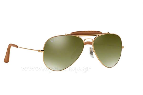 Γυαλιά Rayban 3422Q 001/M9 polarized Leather Collection
